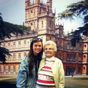 Kate & her Nannie at the Downton Abbey Exhibit