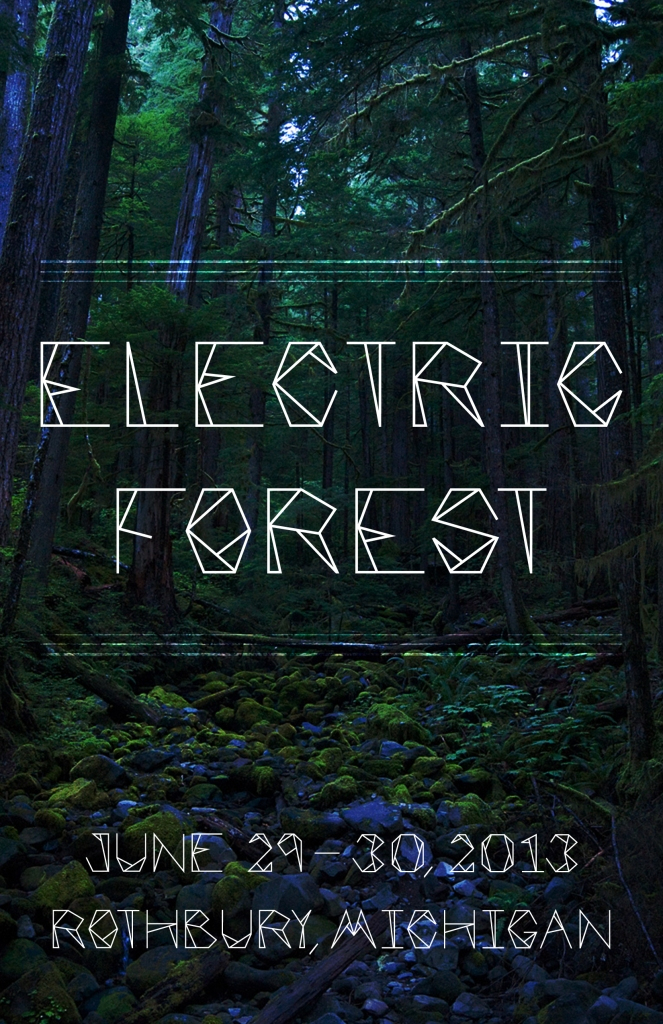 Electric Forest Poster Mock
