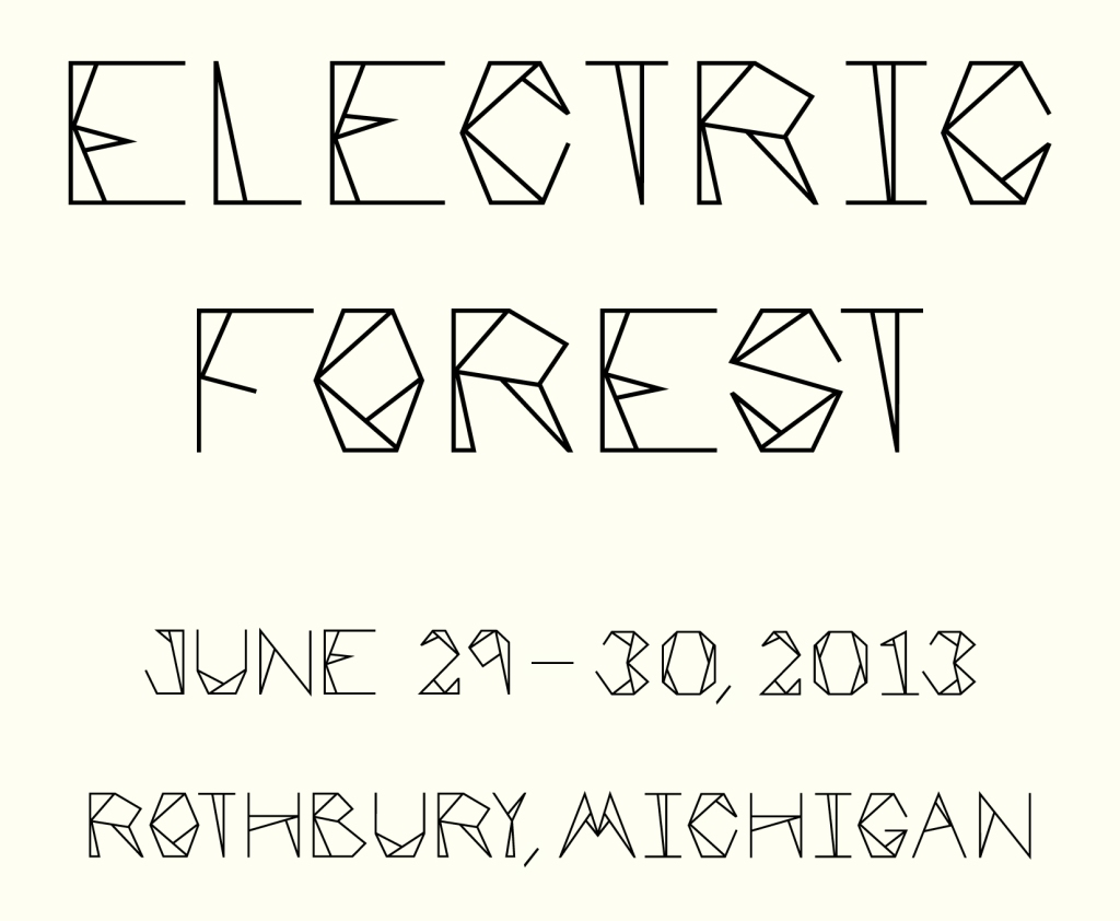 Electric Forest Lettering for poster design