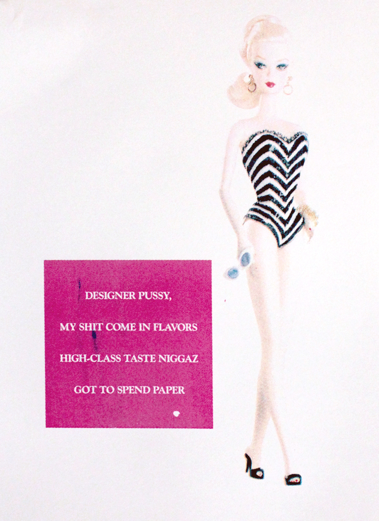 High Class: a silkscreen poster inspired by Barbie & Lil Kim, by Kate Brady