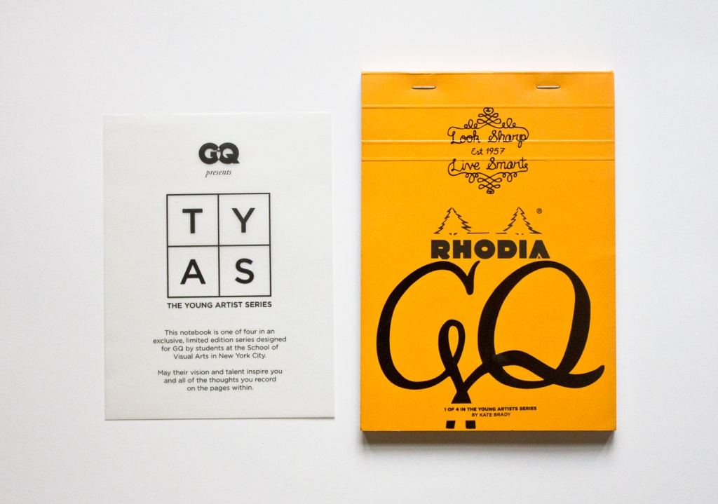 Lettering for GQ's The Young Artist Series with Rhodia by Kate Brady