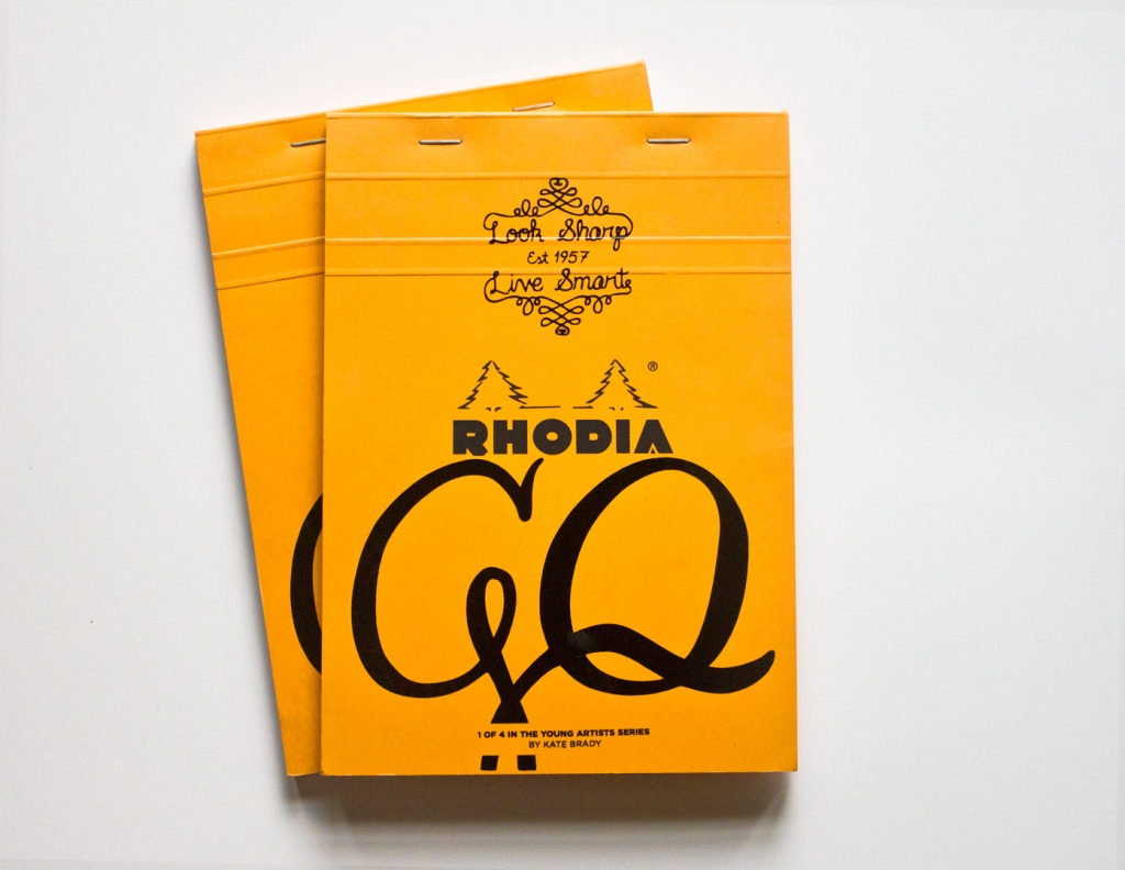 Lettering & Design for GQ's The Young Artist Series with Rhodia by Kate Brady