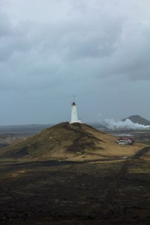 Iceland-Grindavik-white-lighthouse