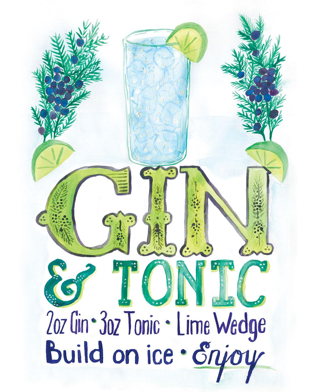 Gin & Tonic by Kate Brady